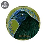 "Framed Sumatra Rooster 3.5"" Button (10 pack)"