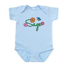 Sage Flowers Infant Bodysuit