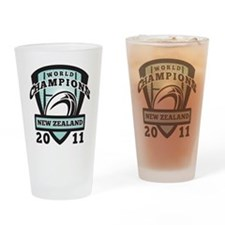 Rugby Champions New Zealand Drinking Glass