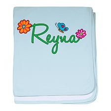 Reyna Flowers baby blanket