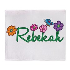 Rebekah Flowers Throw Blanket