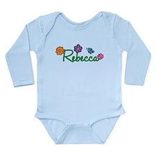 Rebecca Flowers Long Sleeve Infant Bodysuit