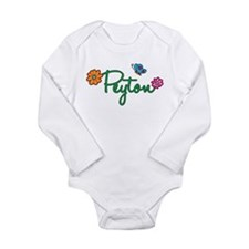 Peyton Flowers Long Sleeve Infant Bodysuit