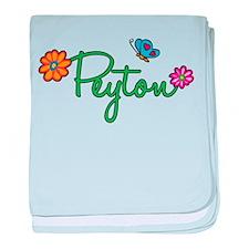 Peyton Flowers baby blanket
