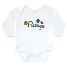 Paisley Flowers Long Sleeve Infant Bodysuit
