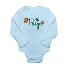 Paige Flowers Long Sleeve Infant Bodysuit