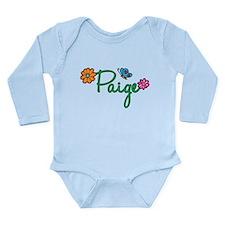 Paige Flowers Long Sleeve Infant Bodysuit