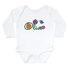 Olive Flowers Onesie Romper Suit