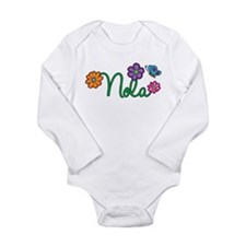 Nola Flowers Long Sleeve Infant Bodysuit