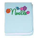 Noelle Flowers baby blanket