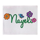 Nayeli Flowers Throw Blanket