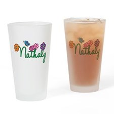 Nathaly Flowers Drinking Glass