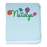 Natalya Flowers baby blanket