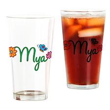Mya Flowers Drinking Glass