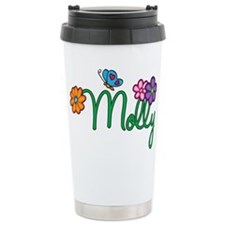 Molly Flowers Ceramic Travel Mug