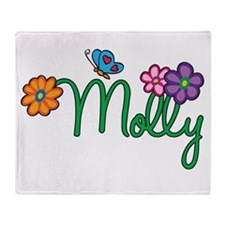 Molly Flowers Throw Blanket
