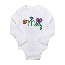 Molly Flowers Long Sleeve Infant Bodysuit
