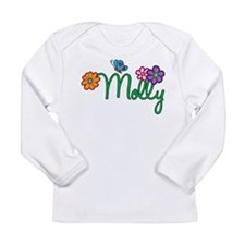 Molly Flowers Long Sleeve Infant T-Shirt
