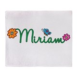Miriam Flowers Throw Blanket