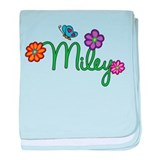 Miley Flowers baby blanket