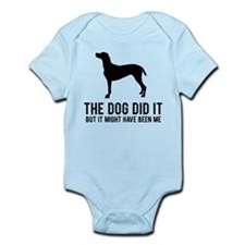 The dog did it .. Infant Bodysuit