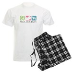 Peace, Love, Boxers Men's Light Pajamas