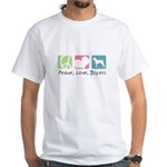 Peace, Love, Boxers White T-Shirt