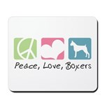 Peace, Love, Boxers Mousepad