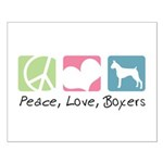 Peace, Love, Boxers Small Poster