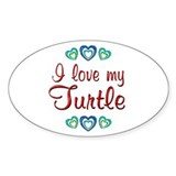 Love My Turtle Decal