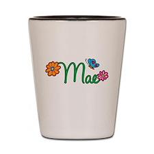 Mae Flowers Shot Glass