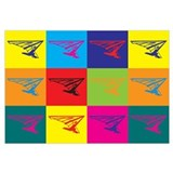 Hang Gliding Pop Art