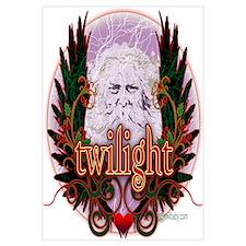 Twilight Santa Winged Crest Wreath