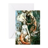 Diver and the Mermaids Greeting Cards (Pk of 10)
