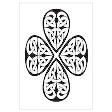 Black Shamrock Celtic Knot