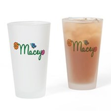 Macey Flowers Drinking Glass