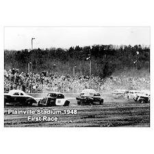Plainville Stadium 1948 First Race Print