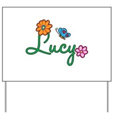 Lucy Flowers Yard Sign