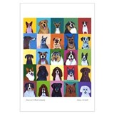 Cute Dog breed Wall Art