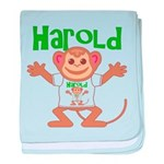 Little Monkey Harold baby blanket