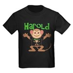 Little Monkey Harold Kids Dark T-Shirt