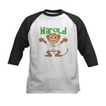 Little Monkey Harold Kids Baseball Jersey