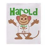Little Monkey Harold Throw Blanket