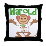 Little Monkey Harold Throw Pillow