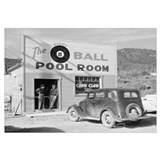 The Eight Ball Pool Room. California, 1940.