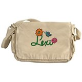 Lexi Flowers Messenger Bag