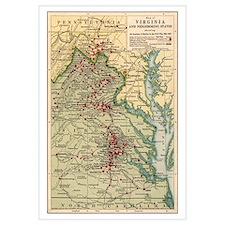 Virginia Civil War Map