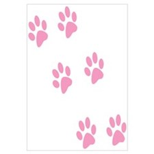 Pink Walk-On-Me Pawprints