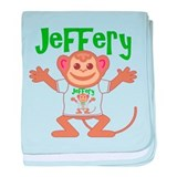 Little Monkey Jeffery baby blanket
