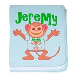 Little Monkey Jeremy baby blanket